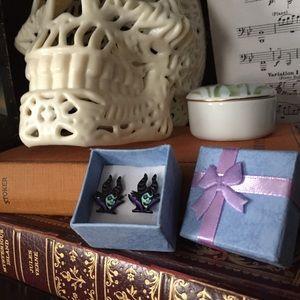 Jewelry - Enamel Maleficent Stud Earrings 🎯